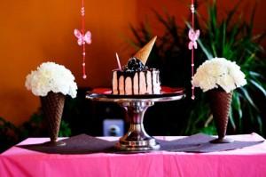 Торт мороженое из кофе и фруктов